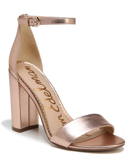 Sam Edelman Yaro Metallic Block-Heel Sandal