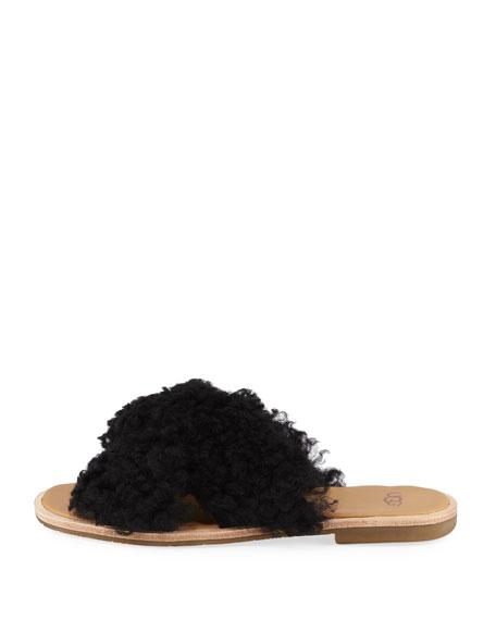 Joni Flat Sheepskin Slide Sandal