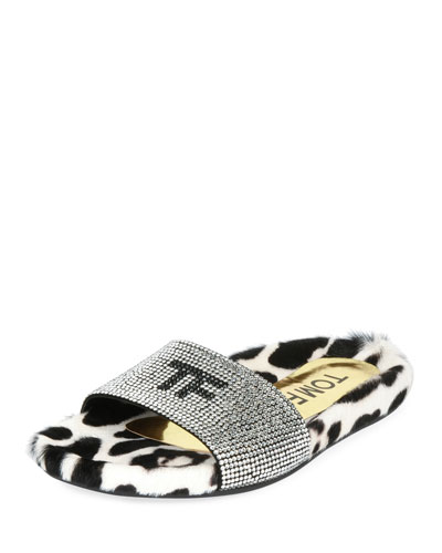 TF Pool Slide Sandal with Crystals