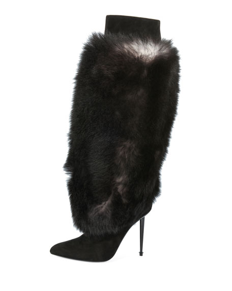 Shearling Fur Knee Boot