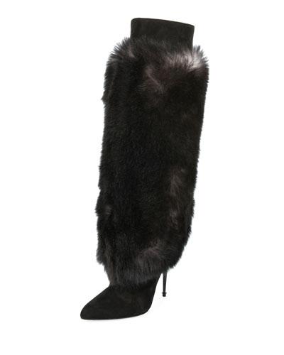 Shearling Fur Knee Boot