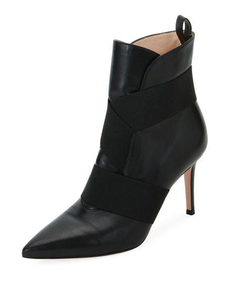 Napa Booties With Stretch Straps, Black
