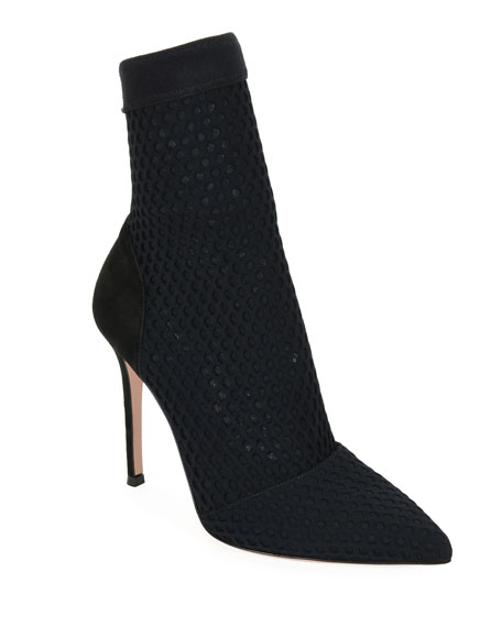 Gianvito Rossi Pointed Knit 105mm Bootie