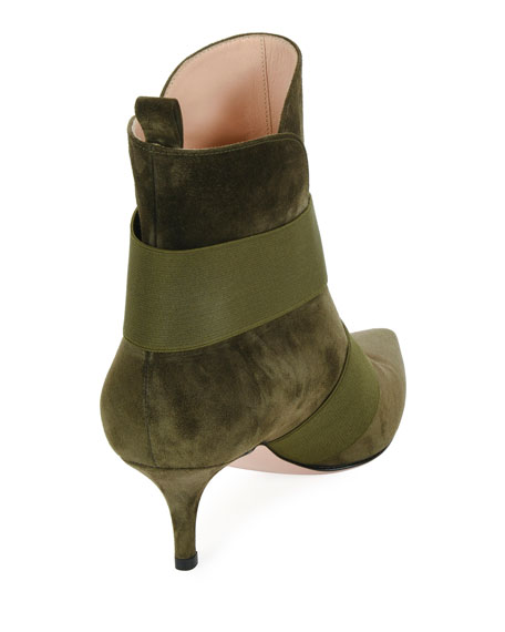 Suede Bootie with Stretch Straps
