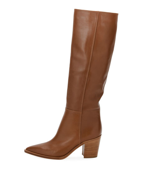 Leather To-The-Knee Boot