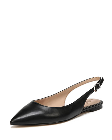 Raya Point-Toe Napa Slingback Flat