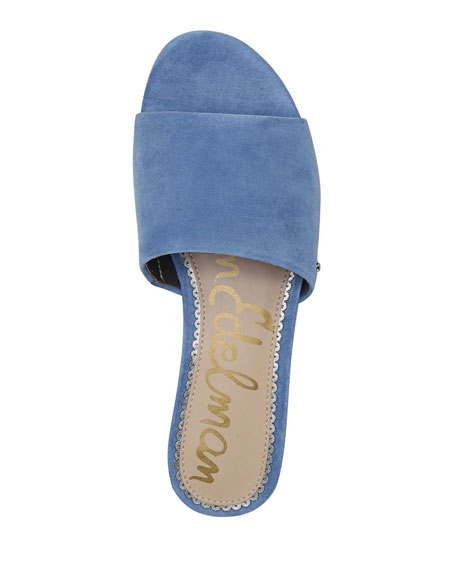 Liliana Suede Demi-Wedge Slide Sandal