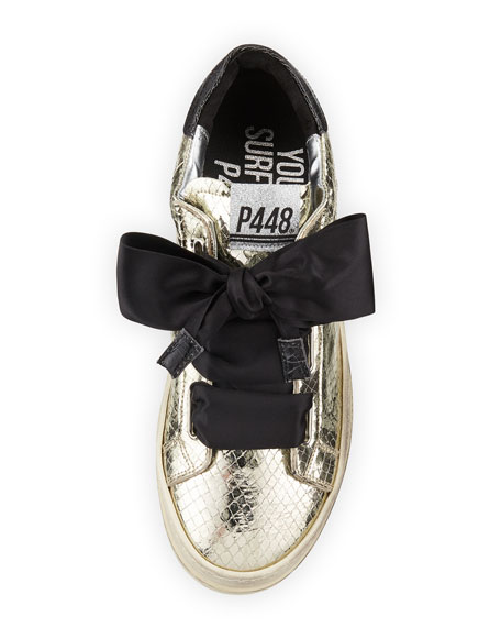 Ralph Platinum Sneakers with Ribbon Tie