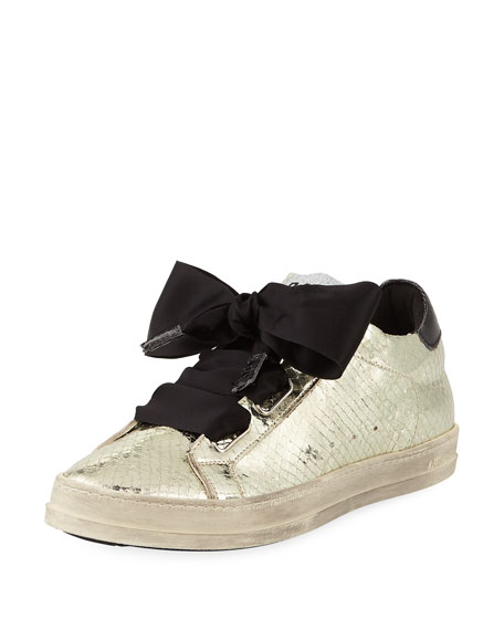 P448 Platinum Sneaker with Ribbon Tie