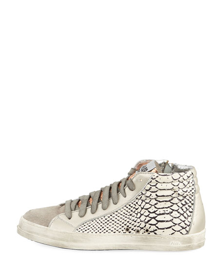 Skate Python-Embossed High-Top Sneakers
