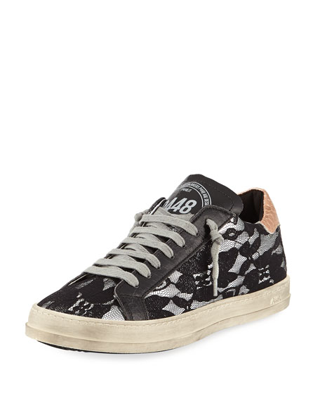 P448 John Lace Platform Low-Top Sneakers