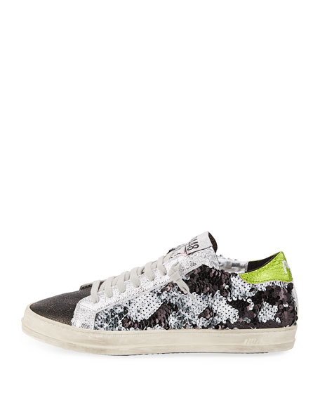 John Sequined Low-Top Sneakers