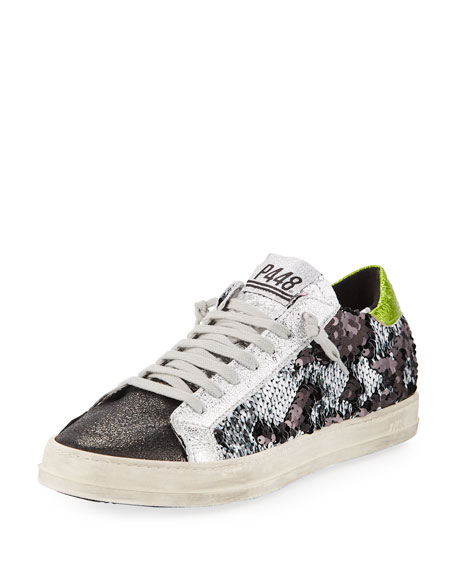 P448 John Sequined Low-Top Sneaker