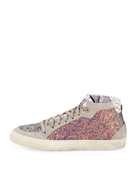 Love Glittered High-Top Sneakers