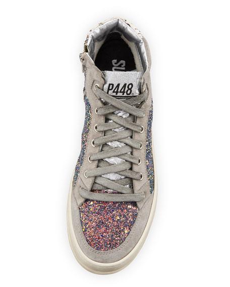 Love Glittered High-Top Sneaker
