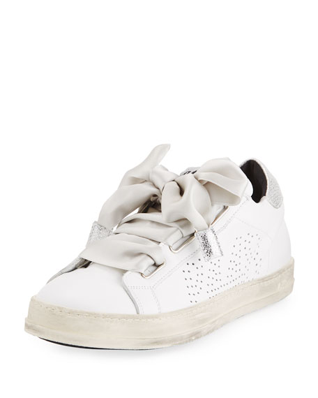 P448 Leather Platform Low-Top Sneaker