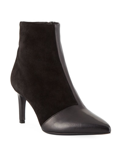Beha Mixed Leather & Suede Zip-Up Bootie