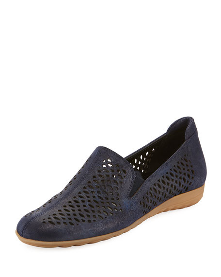 BYRNA PERFORATED CALF LEATHER COMFORT LOAFER