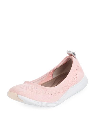ZeroGrand Stitchlite™ Ballerina Flat, Blush