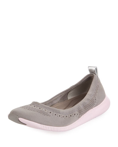 ZeroGrand Stitchlite™ Ballerina Flat, Gray