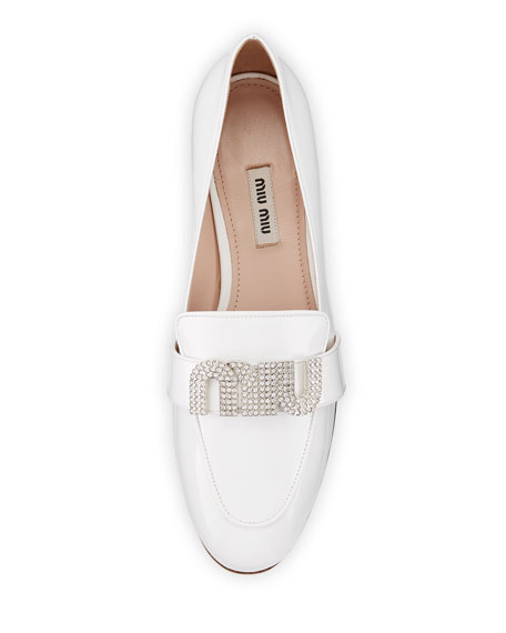 Patent Leather Logo Loafer