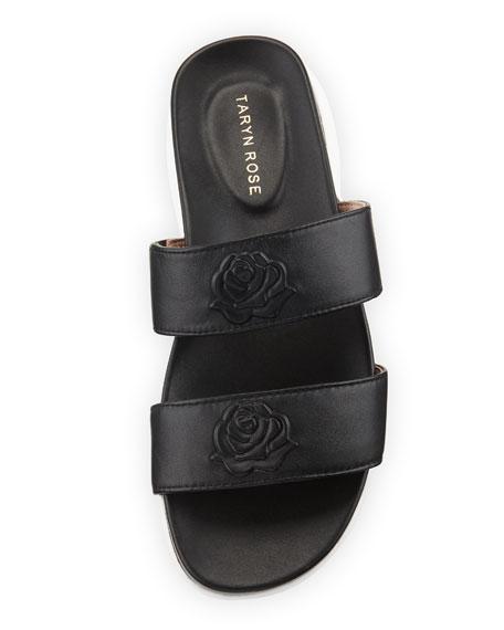 Ina 2-Band Leather Slide Sandal