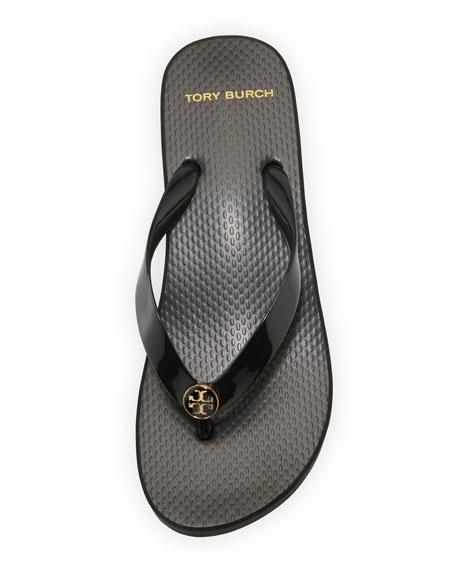 Wedge-Heel Flip-Flop Sandal