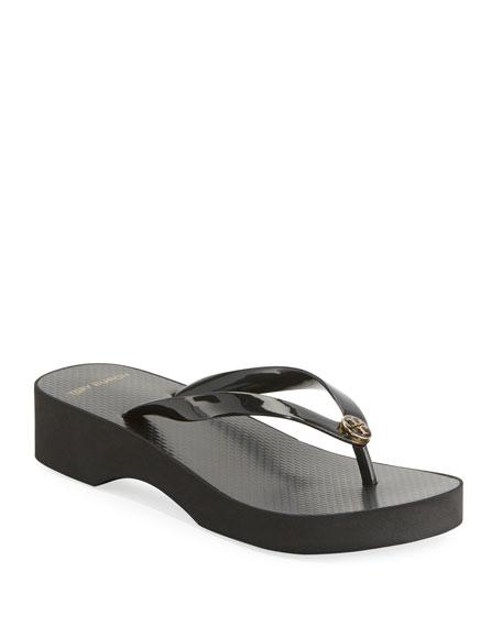 Tory Burch Wedge-Heel Flip-Flop Sandal
