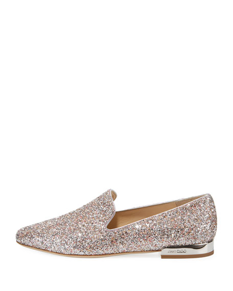 Jaida Flat Speckled Glitter Loafer