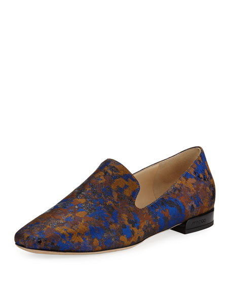 Jimmy Choo Jaida Flat Brocade Loafer