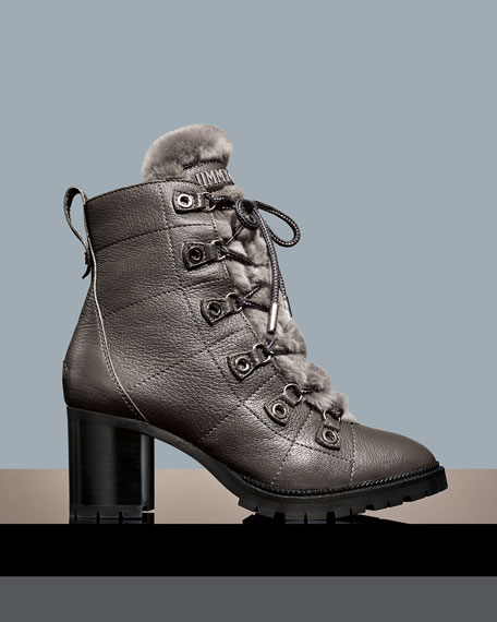 Hillary Shearling Fur-Lined Hiker Booties