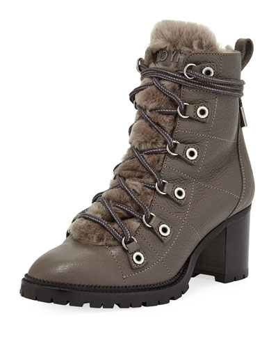 Hillary Shearling Fur-Lined Hiker Bootie