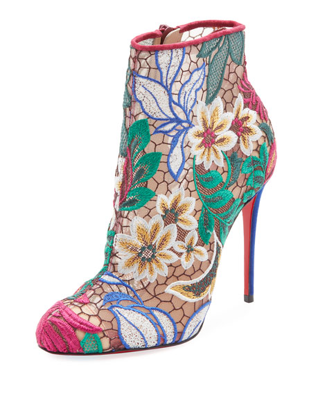 Miss Tennis Embroidered Red Sole Bootie