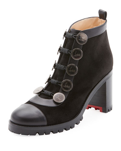 Alphabouton High Red Sole Bootie