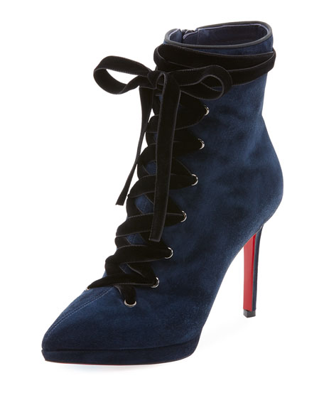 Christian Louboutin Circus Nana Lace-Up Suede Red Sole