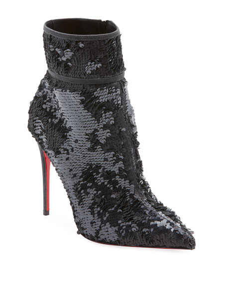 Moula Kate Sequin Red Sole Bootie