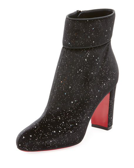 Christian Louboutin Moula Max Glittered Red Sole Booties