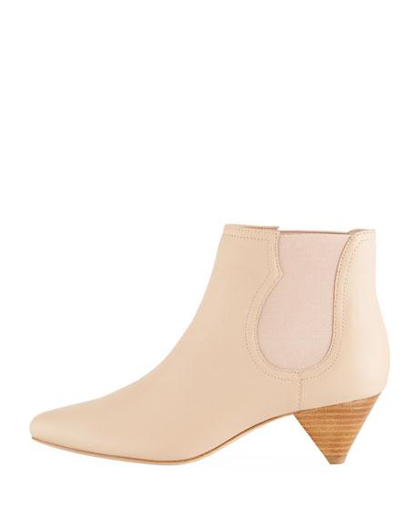 Barleena Cone-Heel Napa Ankle Booties