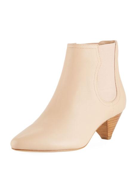 Joie Barleena Cone-Heel Napa Ankle Booties