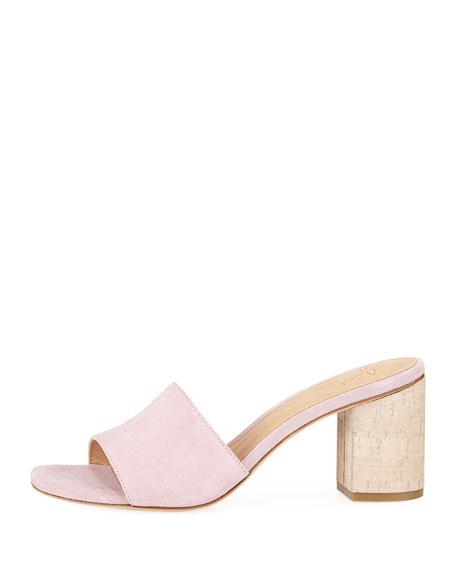 Tapford Suede Slide Sandal with Cork Heel