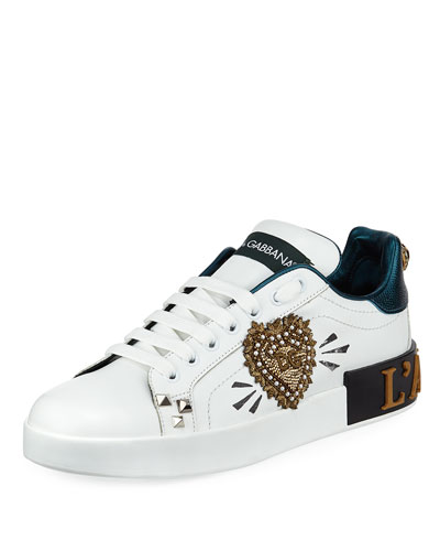 Amore Patchwork Leather Low-Top Sneakers