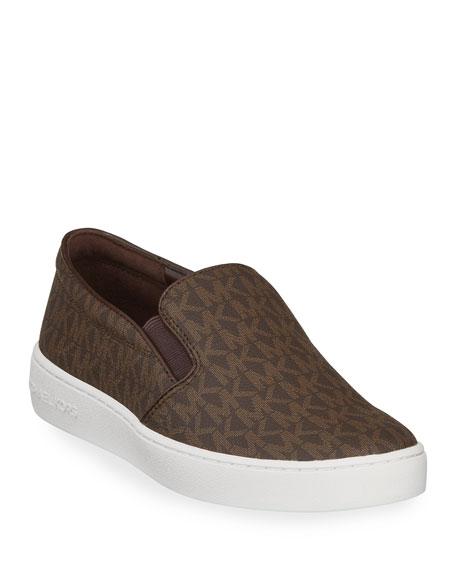 MICHAEL Michael Kors Keaton Logo-Print Slip-On Sneaker