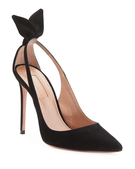Aquazzura Deneuve Suede 105mm Pumps