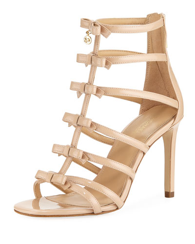 Veronica Patent Bow Cage Sandal