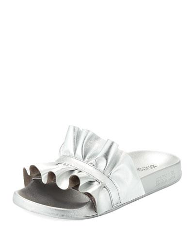 Bella Metallic Sport Slide Sandal
