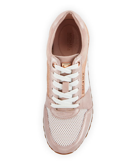 Billie Metallic Leather/Suede Trainer Sneakers