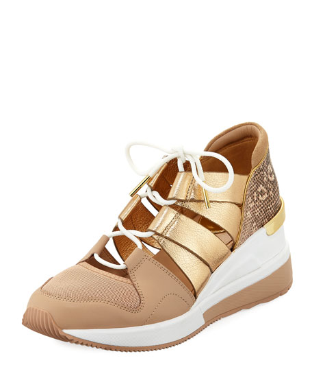 Beckett Metallic Trainer Sneakers