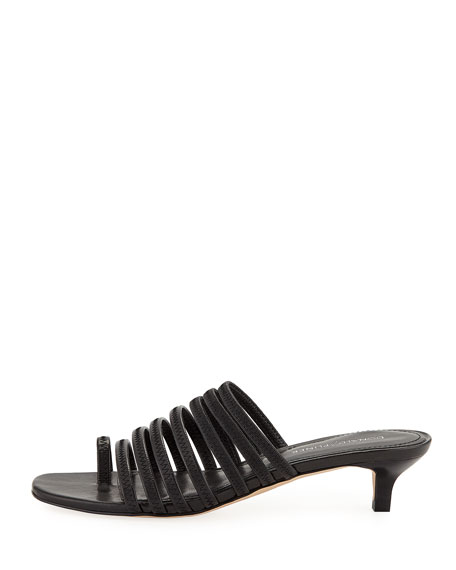 Evone Easy Napa Kitten-Heel Mule Sandal
