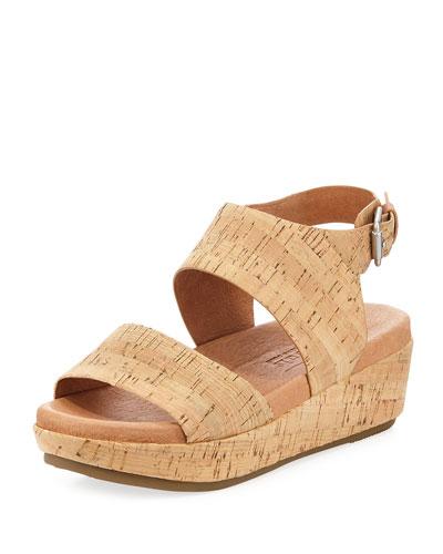 Lori Cork Comfort Wedge Sandal