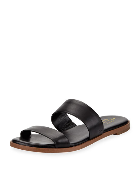 Cole Haan Findra Grand Leather Flat Slide Sandal